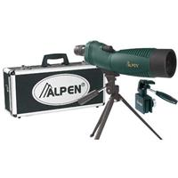 Alpen 18-36x60 Waterproof Rubber Covered Straight View Spotting Scope Kit with Car Window Mount and  Product image - 166