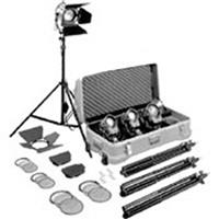 Purchase Arri Tungsten Fresnel Lighting Kit with 4 Fresnels, Bulbs and Accessories, 2,600 Watts, 220 Volts. Product photo