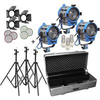 Purchase Arri 650/3 Compact Fresnel Kit with 3 650 Watt Plus Fresnel Tungsten Lights, Bulbs and Accessories,  Product photo