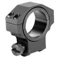 """Image of AIM Sports 30mm Ruger Riflescope Ring with 1"""" Insert, Low Profile, 0.98"""" Saddle Height, Black, Single Ring"""