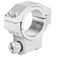 """Image of AIM Sports 30mm Ruger Riflescope Ring with 1"""" Insert, Low Profile, 0.98"""" Saddle Height, Silver, Single Ring"""