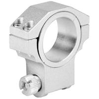 """Image of AIM Sports 30mm Ruger Riflescope Ring with 1"""" Insert, High Profile, 1.12"""" Saddle Height, Silver, Single Ring"""