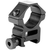 """Image of AIM Sports 1"""" Scope Mounting Rings with Weaver Base, Medium Profile, One Pair Black Rings"""