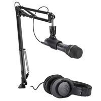 Image of Audio-Technica AT2005USB Streaming/Podcasting Microphone Pack with ATH-M20x Headphones, Boom & Mini-USB Cable