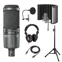 Image of Audio-Technica AT2020USB+ Cardioid Condenser USB Microphone, Microphone with Vocal Recording Setup Kit