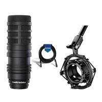 Image of Audio-Technica BP40 Pro Large-Diaphragm Dynamic Broadcast Microphone - Bundle With Audio-Technica AT8484 Shockmount, 20' Heavy Duty 7mm Rubber XLR Microphone Cable