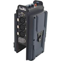 Image of Audio Developments AD071 Camera Mixer with V-Lok Mount, 3x Micline Inputs, 20Hz-20kHz Frequency Response