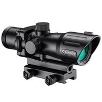 Image of Barska 4x32 Electrosight Riflescope, Matte Black with Illuminated Green/Red Mil-Dot Reticle, Integrated Picatinny Mount
