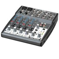 Behringer XENYX 802 Small Format Mixer with XENYX Mic Preamps, 8 Input Channels, 10Hz to 20kHz Frequency Response - Grey