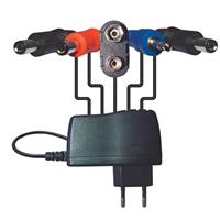 Behringer PSU-HSB-ALL Power Adapter with Daisy Chain Connectors and Jumper Cables and All-Country Mains Adapter, DC 9 V/1.7 A