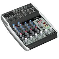 Behringer XENYX Q802USB Premium 8-Input 2-Bus Mixer with XENYX Mic Preamps and Compressors, British EQs and USB/Audio Interface