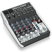 Behringer XENYX QX602MP3 Premium 6-Input 2-Bus Mixer with Mic Preamps, British EQs, MP3 Player and Multi-FX
