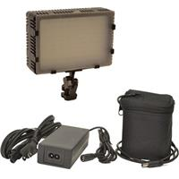 Image of Bescor Field Pro FP-180L Bi-Colored Dimmable On-Camera Light Kit, Includes FP-98NC Lithium-Ion Battery Pack, BC-98L Battery Charger