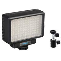 Image of Bescor LED-70 Dimmable 70W Video and DSLR Light - Bundle - with Light Stand Adapter