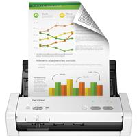Brother ADS-1250W Wireless Duplex Compact Color Desktop Document Scanner, 25ppm, 600x600dpi