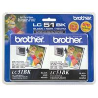 Brother LC512PKS Black Ink Cartridges, Yields 500 Pages, 2 Pack