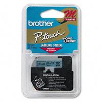 """Image of Brother 0.35"""" Black on Blue Non-Laminated Tape for P-touch (26.2')"""