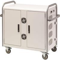 Bretford Link L MDMLAP32NR 32-Unit Network Ready Storage Cart for Laptop/Netbook, Aluminum Handles, Concrete Paint
