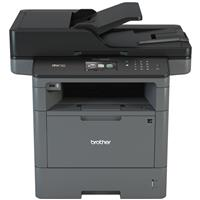 Brother MFC-L5800DW All-In-One Monochrome Laser Printer with Duplex Printing and Wireless Networking, 42ppm Black Max. Speed, Up to 1200x1200dpi, 70-Page ADF Capacity (Max.), Up to 28ipm Simplex Scan Speed (Black), 250 Sheet Standard Input Tray - Print, Copy, Scan, Fax
