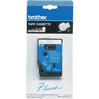 """Image of Brother 0.35""""x25.26' Tape for P-Touch Label Makers, White on Clear"""