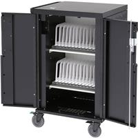 Bretford CoreX Charging Cart with 2 Shelves for 20 to 24 Laptops/Chromebooks