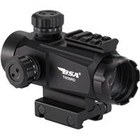 Image of BSA Optics Tactical Weapon 1x35 Holographic Sight, 35mm Exit Pupil, 5MOA Red Dot, Fully Coated Optic, Picatinny/Weaver Rail Mount,