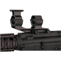 Image of BSA Optics Tactical Weapon AR1PRM One Piece Picatinny Rail Mount with 30mm Rings with Top Picatinny Mount on Front Ring