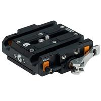 Image of Bright Tangerine Left Field Quick Release Baseplate for Canon C100/C300/C500 and Sony FS7/FS7 II/FX9 Cameras
