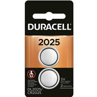 Duracell DL2025 Coin Cell Lithium Battery 3V for Keyless Entry Systems and Other Security and Electronic Devices (2-pack)