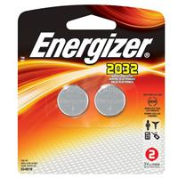 Energizer 2032BP-2 2032 3V Lithium Coin Battery for Heart-Rate Monitors, Keyless Entry, Glucose Monitors, Toys and Games, 2 Pack