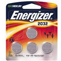 Energizer 2032 3V Lithium Coin Battery for Heart-Rate Monitors, Keyless Entry, Glucose Monitors, Toys and Games, 4 Pack