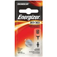 Energizer 357/303 1.5V Zero-Mercury Silver Oxide Battery for Watches, Toys, Glucose Monitors and Calculators