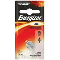 Energizer 386 1.5V Zero-Mercury Silver Oxide Battery for Watches, Toys, Glucose Monitors and Calculators