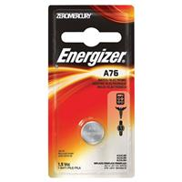 Energizer A76 1.5V Zero-Mercury Alkaline Battery for Watches, Toys, Glucose Monitors and Calculators