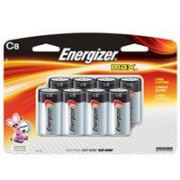 Energizer MAX C Alkaline Batteries for Calculators, Pencil Sharpeners, Cameras, Flashlights & Portable Tape Recorders, 8 Pack