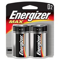 Energizer MAX D Alkaline Batteries for Calculators, Pencil Sharpeners, Cameras, Flashlights, Portable Tape Recorders, Smoke Detectors, Toys & Radios, 2 Pack