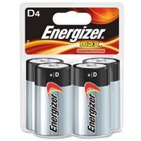 Energizer MAX D Alkaline Batteries for Calculators, Pencil Sharpeners, Cameras, Flashlights, Portable Tape Recorders, Smoke Detectors, Toys & Radios, 4 Pack