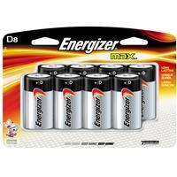 Energizer MAX D Alkaline Batteries for Calculators, Pencil Sharpeners, Cameras, Flashlights, Portable Tape Recorders, Smoke Detectors, Toys & Radios, 8 Pack