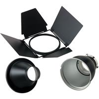 Ultimate Bowens Reflector Kit, with 60? Grid Reflector, Snoot & 4-Leaf Barndoor for Gemini Monolights. Product photo