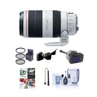 Image of Canon EF 100-400mm f/4.5-5.6L IS II USM Zoom Lens USA - Bundle with 77mm Filter Kit (UV/CPL/ND2), FocusShifter DSLR Follow Focus & Rack Focus, Cleaning Kit, Cap Leash, Flex Lens Shade, Pro Software Package for Windows