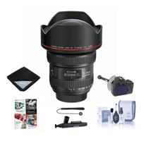 Image of Canon EF 11-24mm f/4L USM Ultra-Wide Zoom Lens - Bundle with FocusShifter DSLR Follow Focus & Rack Focus, Lens Wrap (19x19), Cleaning Kit, Cleaner, Universal Lens Cap Tether, Pc Software Package
