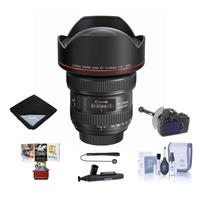 Image of Canon EF 11-24mm f/4L USM Ultra-Wide Zoom Lens - Bundle with FocusShifter DSLR Follow Focus & Rack Focus, Lens Wrap (19x19), Cleaning Kit, Cleaner, Universal Lens Cap Tether, Mac Software Package