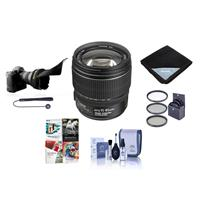 Image of Canon EF-S 15-85mm f/3.5-5.6 USM IS Image Stabilized AF Lens Kit, U.S.A. - Bundle with 72mm UV Wide Angle Filter, Lens Cleaning Kit, Flex Lens Shade, Lens Wrap (15x15), Cap Leash, PC Software Package