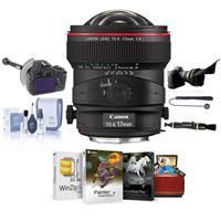 Image of Canon TS-E 17mm f/4L Tilt-Shift Manual Focusing Lens for EOS - USA - Bundle with FocusShifter DSLR Follow Focus & Rack Focus, Flex Lens Shade, Cleaning Kit, Lens Cleaner, Mac Software Package