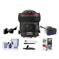 Image of Canon TS-E 17mm f/4L Tilt-Shift Manual Focusing Lens for EOS - USA - Bundle with FocusShifter DSLR Follow Focus & Rack Focus, Flex Lens Shade, Cleaning Kit, Lens Cleaner, Software Package