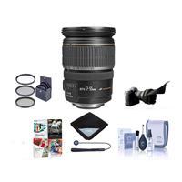 Image of Canon EF-S 17-55mm f/2.8 IS USM Digital SLR Zoom Lens USA Warranty Bundle With 77mm Filter Kit, Lens Cap Leash, Lens Cleaning Kit, Flex Lens Shade, Software Package, Lens Wrap (15x15)