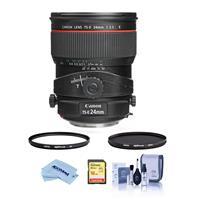 Image of Canon TS-E 24mm f/3.5L II Tilt-Shift Lens USA. Warranty - Bundle With Hoya 82mm 10-Layer HMC UV Filter, Hoya 82mm HMC Circular Polarizer Filter, 16GB SDHC Card, Cleaning Kit, Microfiber Cloth