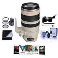 Image of Canon EF 28-300mm f/3.5-5.6L IS USM AF Lens Kit, USA Bundle With 77mm Filter Kit, Flex Lens Shade, Lens Wrap (19x19), Lens Cap Leash, Cleaning Kit, PC Software Package