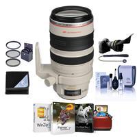 Image of Canon EF 28-300mm f/3.5-5.6L IS USM AF Lens Kit, USA Bundle With 77mm Filter Kit, Flex Lens Shade, Lens Wrap (19x19), Lens Cap Leash, Cleaning Kit, Mac Software Package