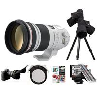 Image of Canon EF 300mm f/2.8L IS II USM IS Telephoto Lens USA - Bundle with LensAlign MkII Focus Calibration System, LensCoat RainCoat, Canon 52 Drop-In CPL Filter, Flex Lens Shade, Pro Software Package
